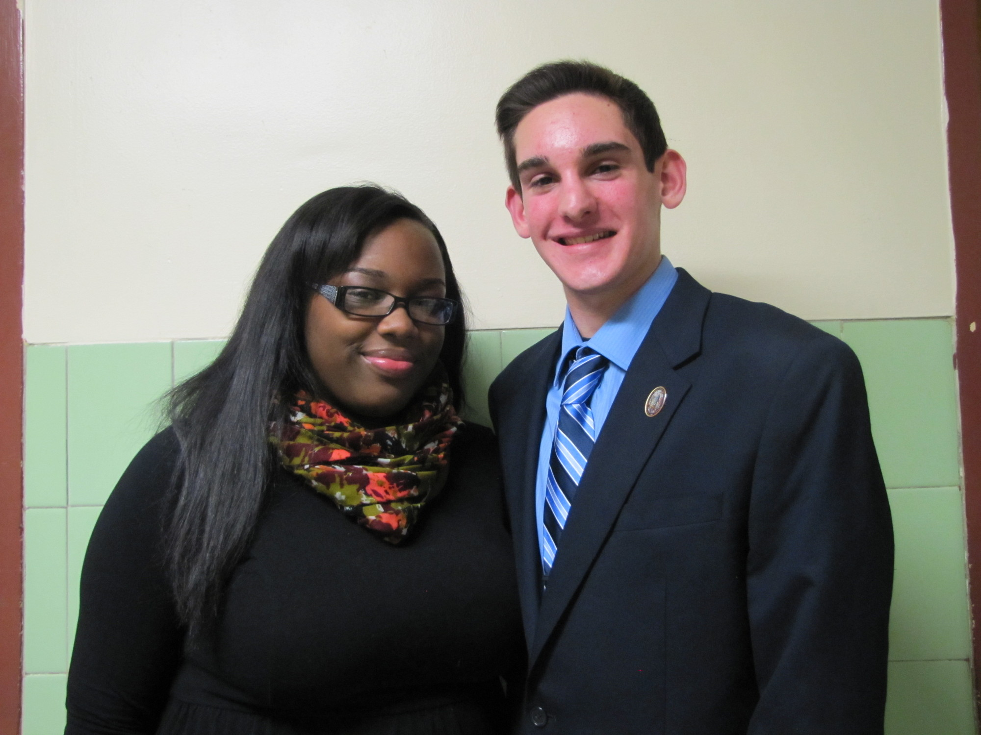 Nia Pollard and Steven Gandolfo were recently named Malverne High School's respective valedictorian and salutatorian for the Class of 2014.