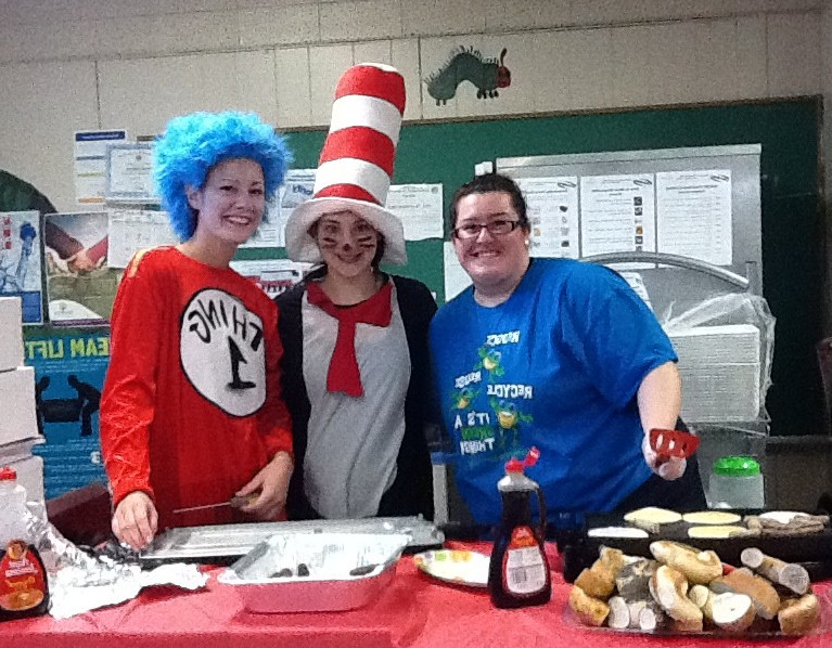 Number Four School teachers Mandie Bodanzio, left, Cristina Viteritti and Jennifer Bayer organized a pancake breakfast that raised $4,000 to assist the Chiapot family.