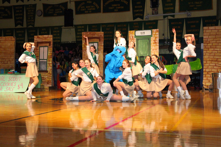 "Seniors/ ""Girl Scouts"" gave an outsanding dance performace to a mix of songs including artist Beyonce at Lynbrook Class Night Friday March 14th."