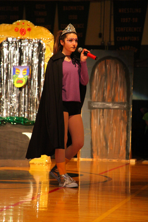 "Sophmore ""Snow Queen"" Gia Rossi during her class night skit at Lynbrook High School's Class Night on Friday, March 14th."