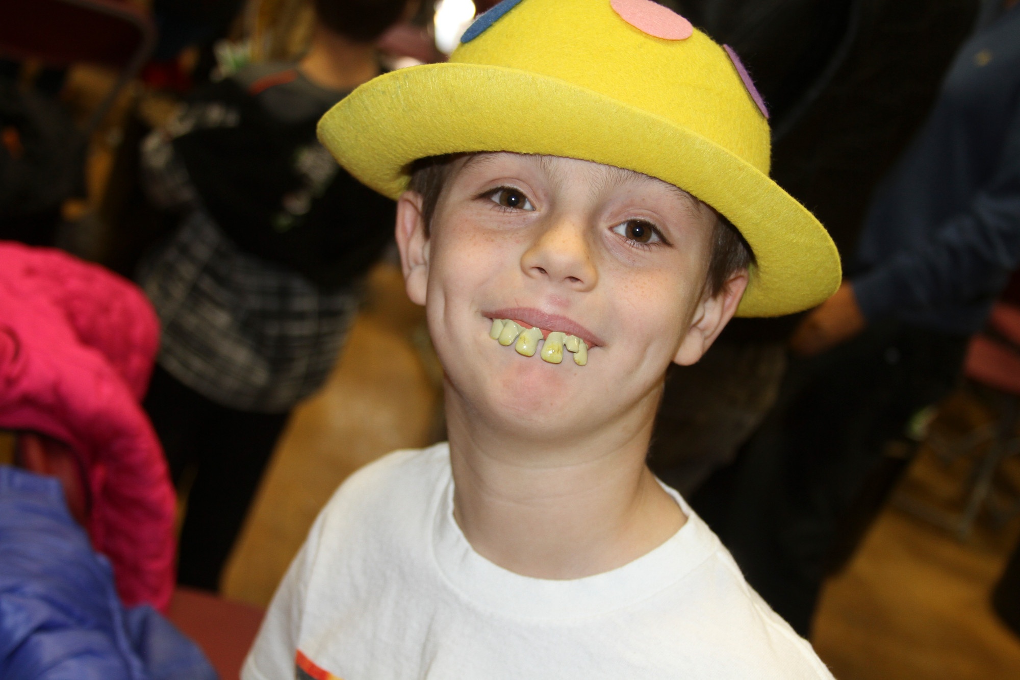 Michael Cafaro, 10, could use a dentist to straighten out his dental problems.