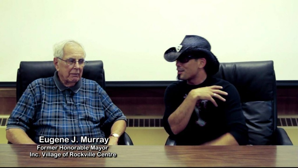 Dan Marquardt, who conceived the film, with his uncle and mentor, former Rockville Centre Mayor Eugene Murray (at left).