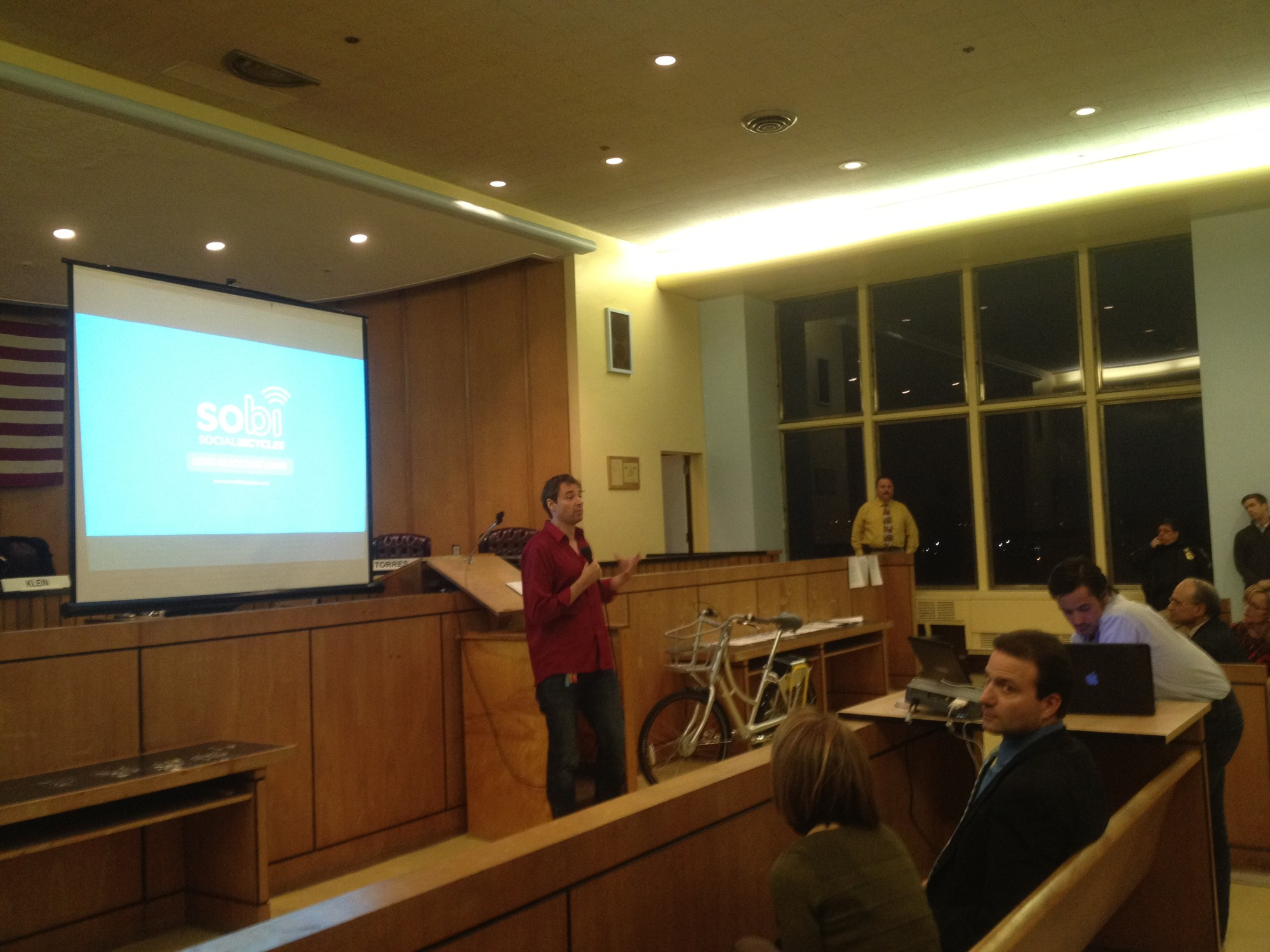 Social Bicycle founder and CEO Ryan Rzepecki made a presentation at the meeting.