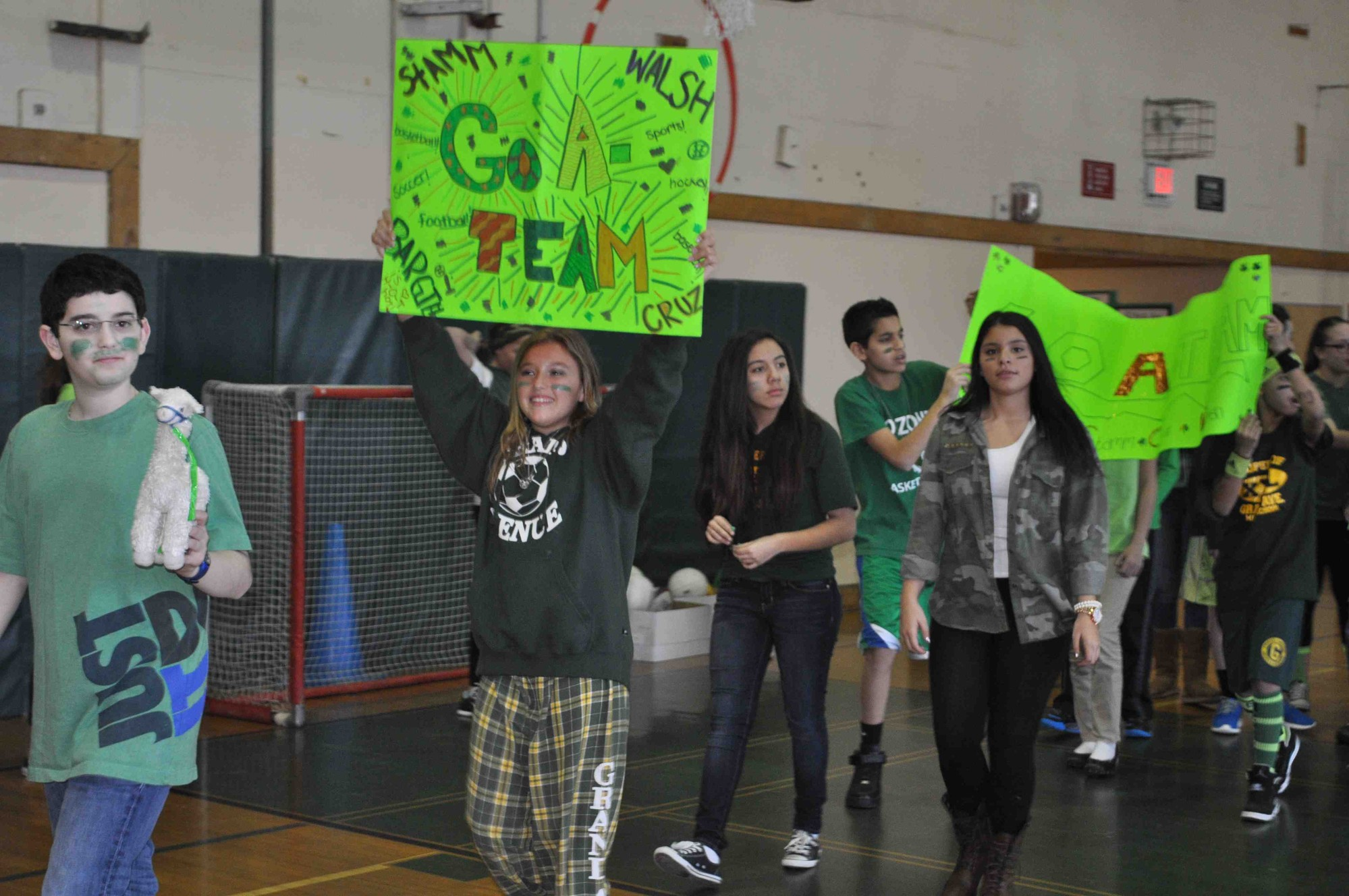 The seventh-grade A-Team showed its Grand Avenue spirit.