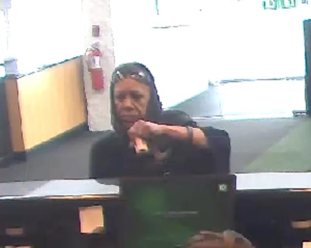 Nassau County Police are searching for this woman, who they say robbed the Hempstead Turnpike bank.