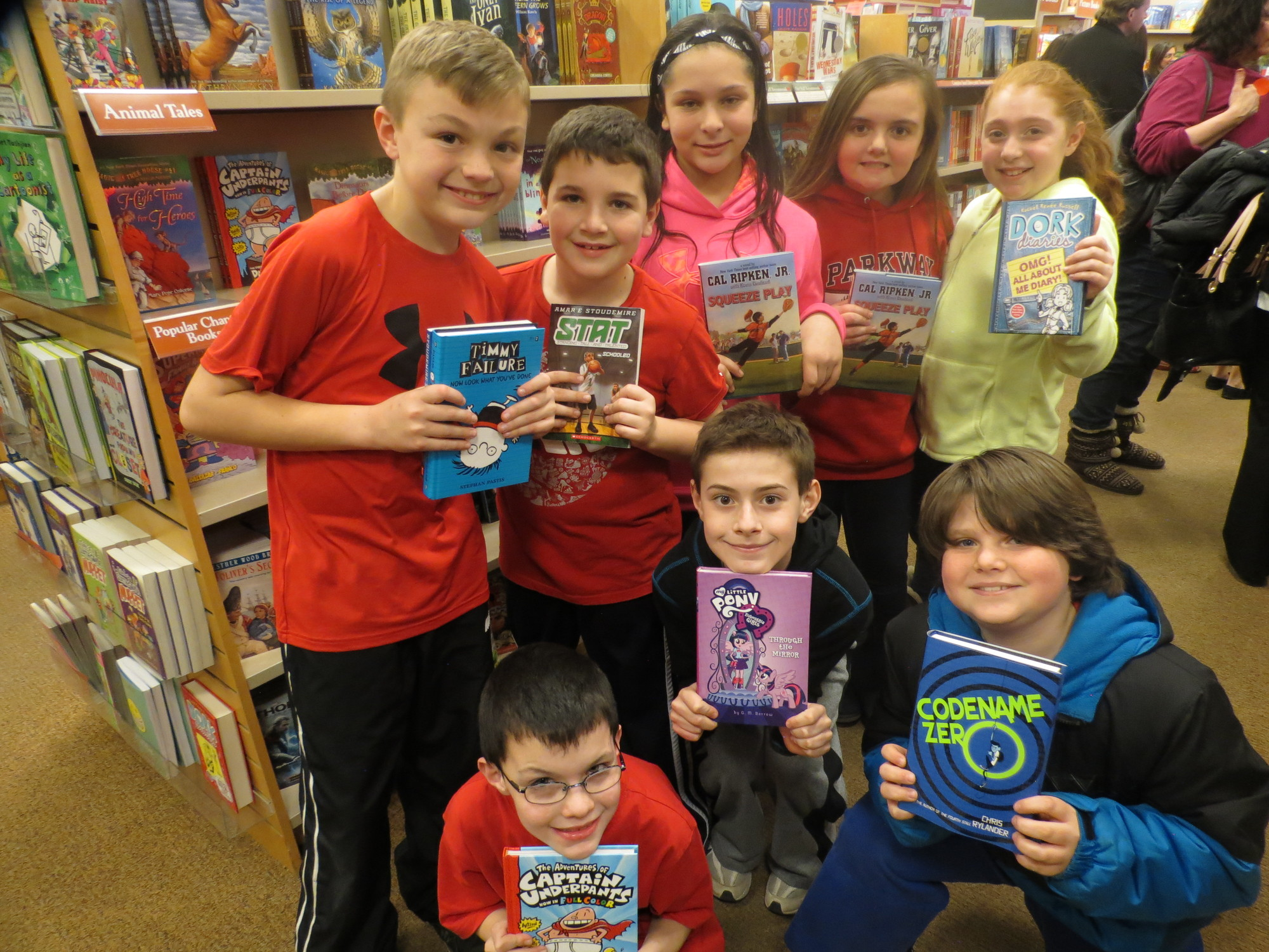 Parkway Elementary School students left Barnes and Noble in Carle Place with new books to read after attending Literacy Night earlier this month.