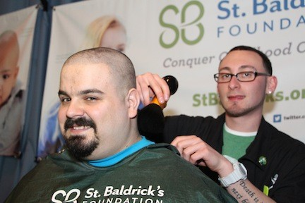 The editor got a close shave from barber-in-training Chris Abt.