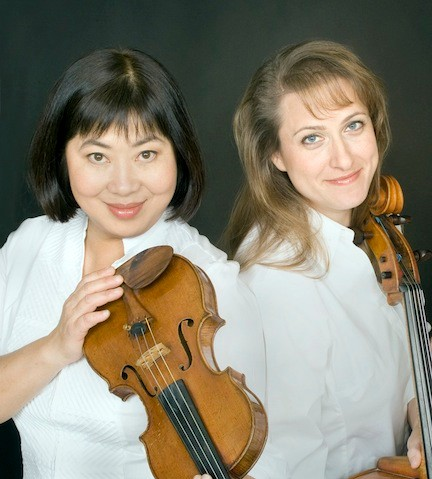 Volinist Muneko Otani and cellist Nicole Johnson will perform with  the South Shore Symphony Orchestra.