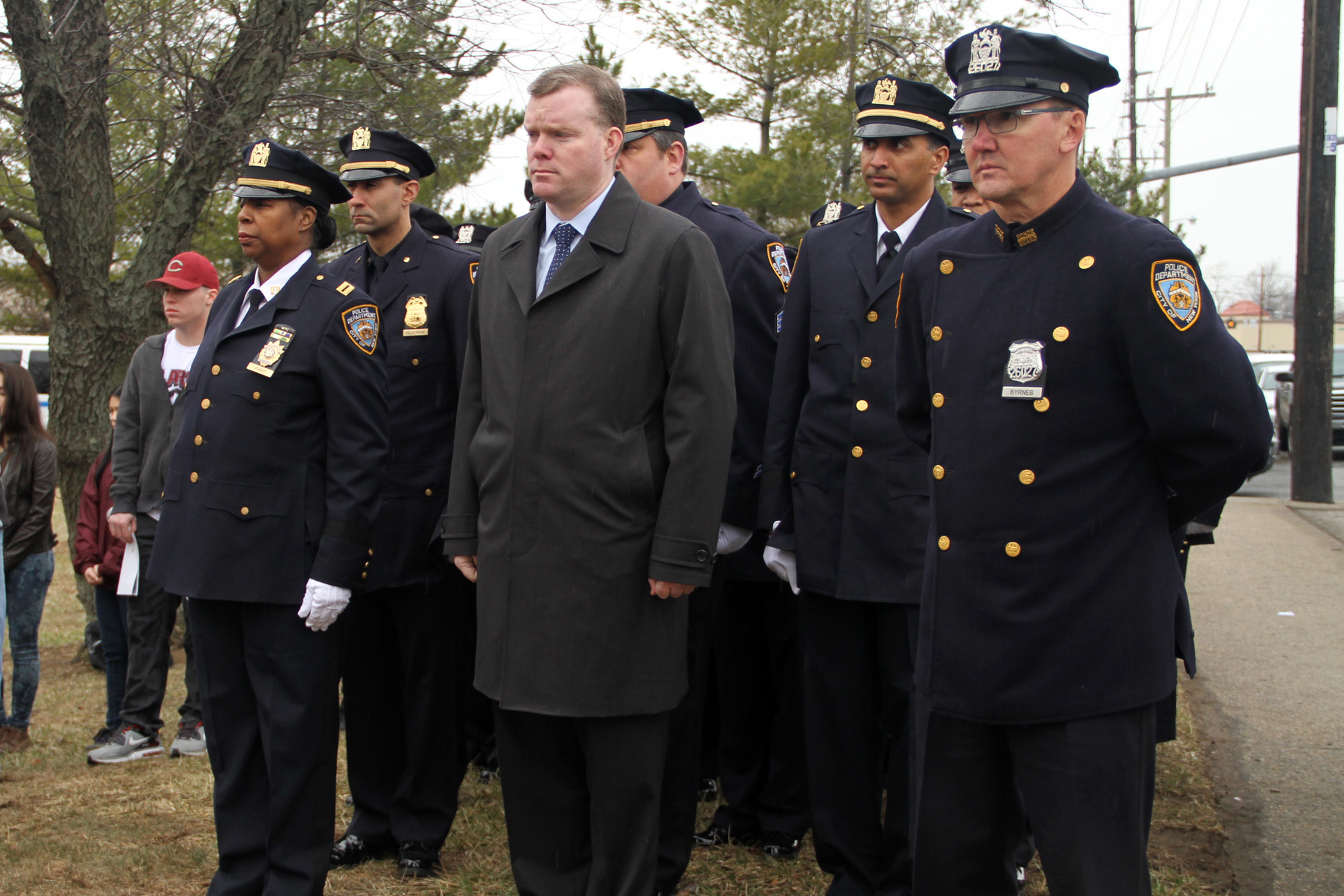 Dozens of NYPD officers came to East Meadow to pay their respects.