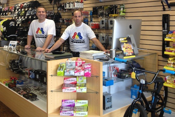 Michael Hammer, right, recently opened Merrick Bicycles on Merrick Avenue with his partner and brother-in-law, Dan Yuricic.