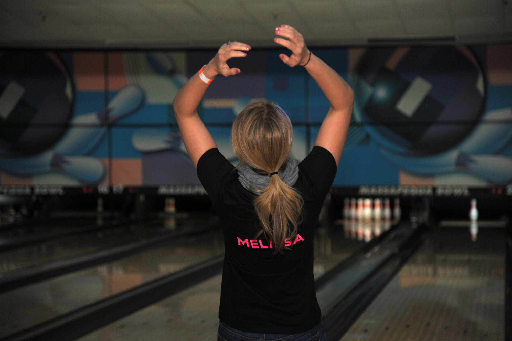 Mannetta enjoyed bowling - even when she was just one pin away from a strike.