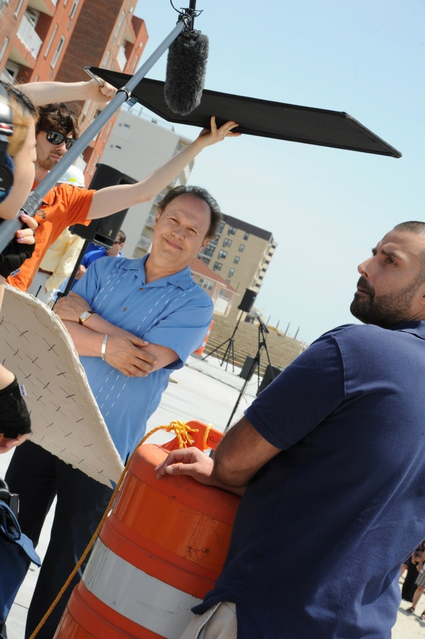 Actor Billy Crystal on the boardwalk last June, where he filmed a commercial to promote the city after Sandy.