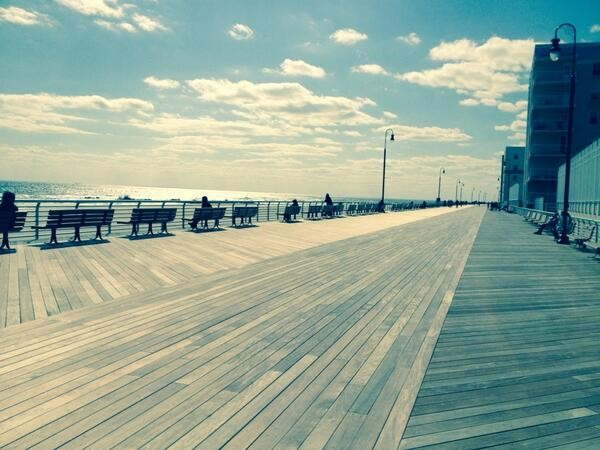 "On April 5, Crystal tweeted, ""Beautiful rebuilt boardwalk in Long Beach, NY. On r way back!"""