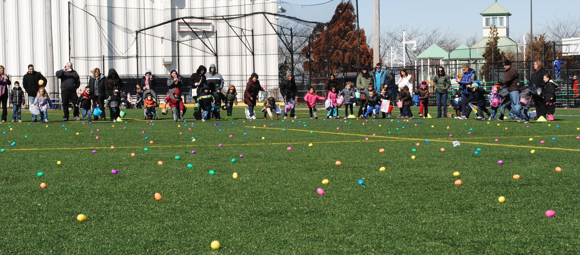 Last year's Easter egg hunt at the Rec.