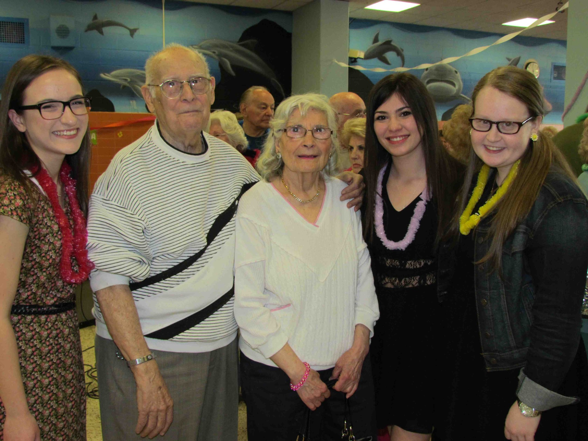 Students served food, talked to guests and entertained throughout the evening at the 14th annual senior citizens prom.