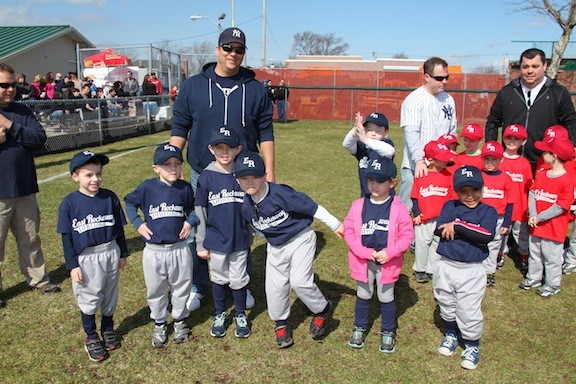 The Blue Team of the East Rockaway Little League.