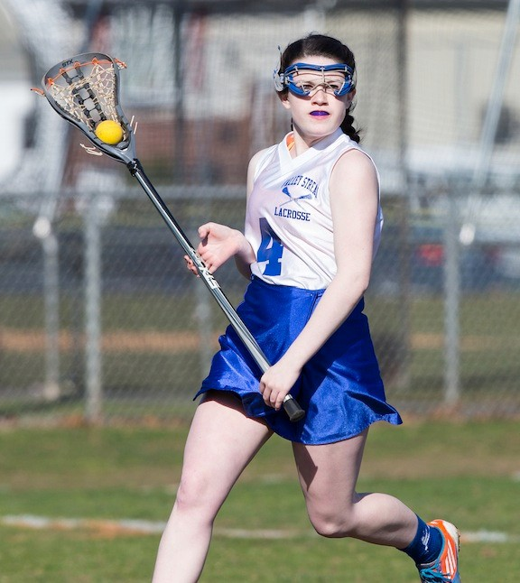 Bridget Dolan was clutch in Valley Stream's 14-13 OT victory over Malverne/East Rockaway on March 29, scoring the tying and winning goals.