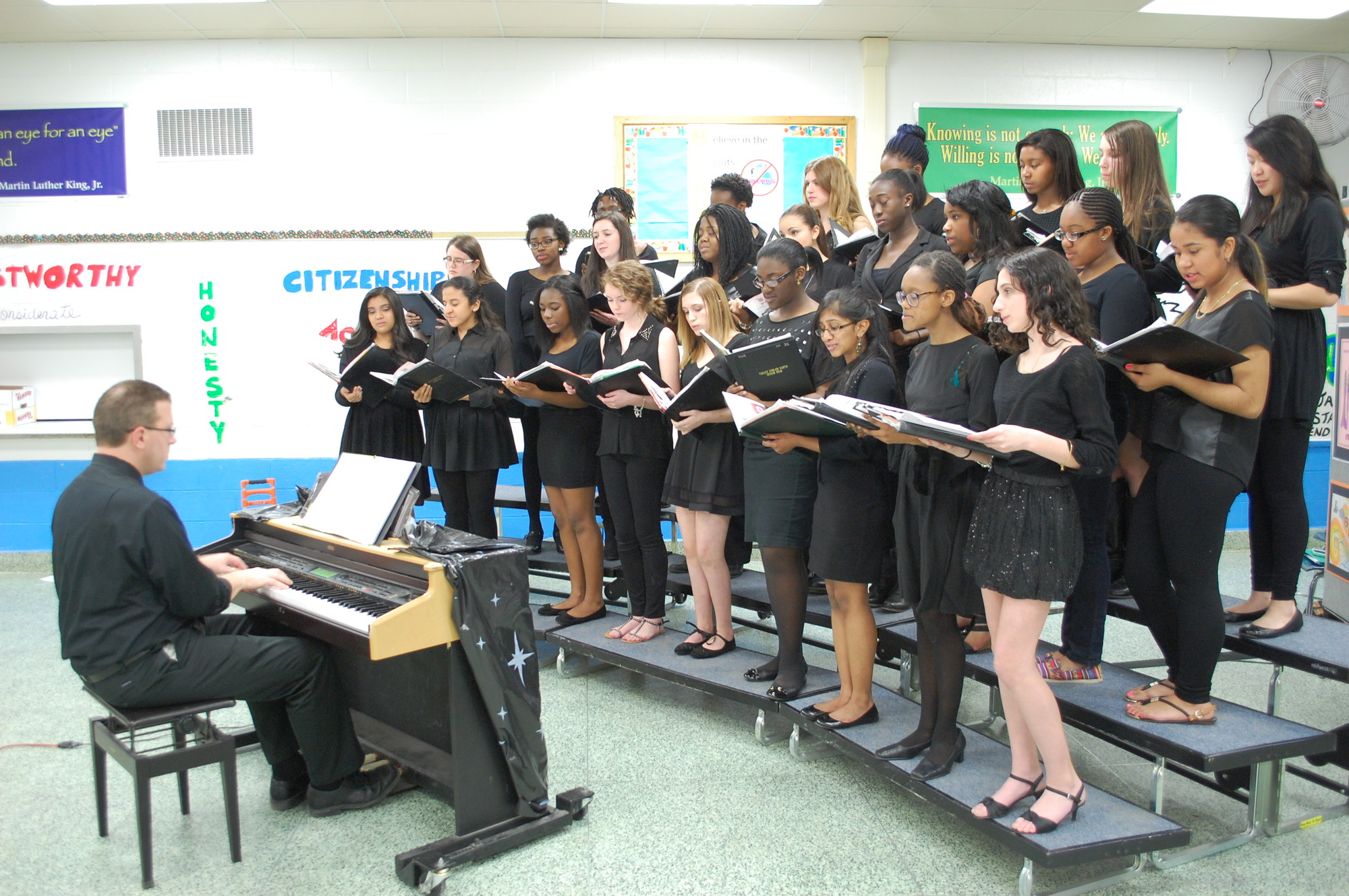 There were numerous musical presentations, including by the North High School Women's Choir.
