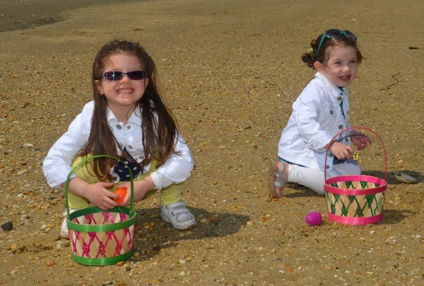 East Rockaway sisters: Lyla Walker 4, Scarlet Walker 2 at the Easter Egg Hunt!