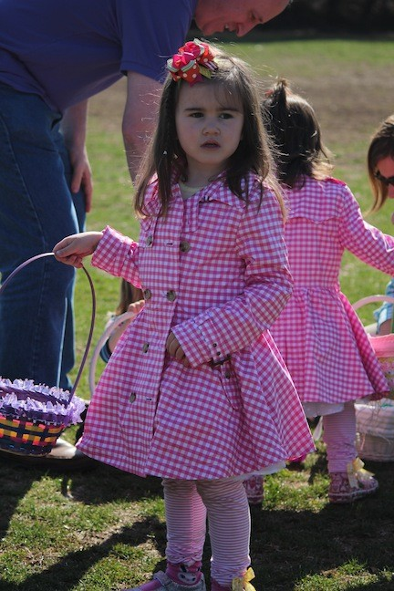 Maggie Barry, 4, dressed in her Easter finest on the beautiful spring morning.