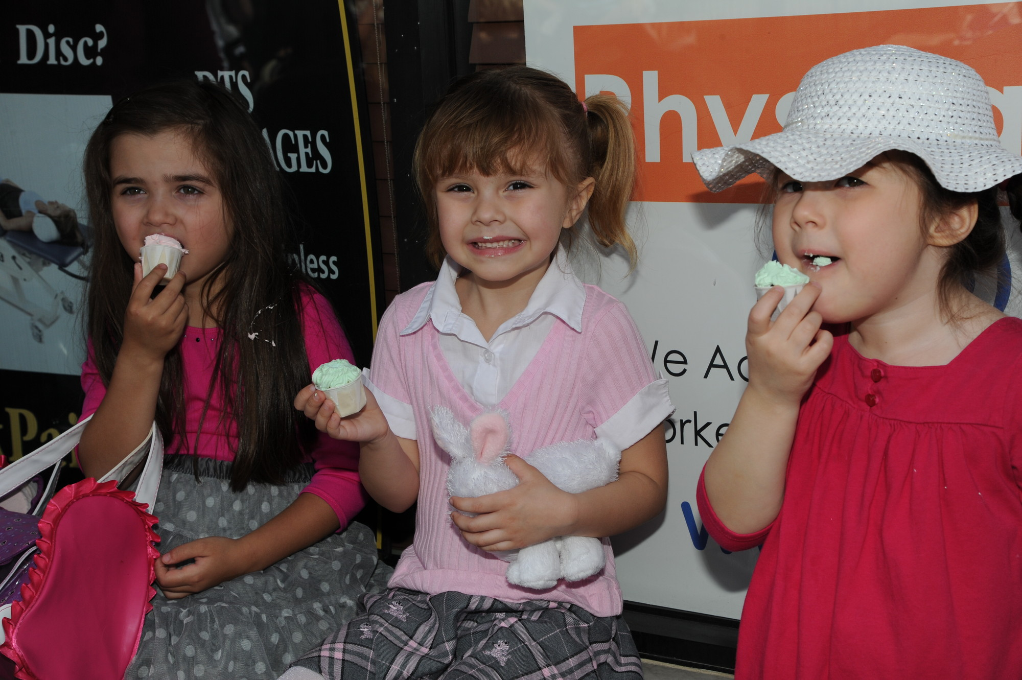 Angelina Dipetra, Bianca Muniz-Nostrom and Natalie Sherman enjoyed sweet treats, courtesy of two Bellmore businesses.