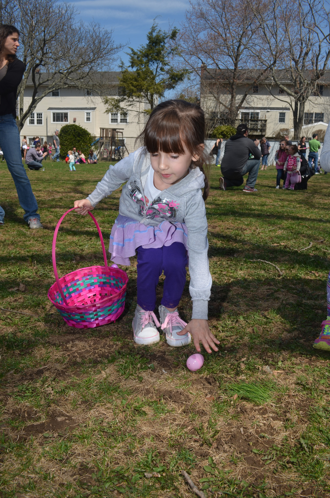 Ella Londino, 6, collected an egg during the egg hunt.