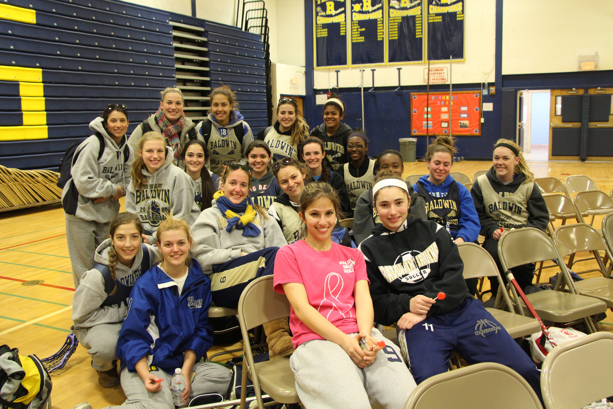 Students from the Baldwin girls� lacrosse team came to cermonys to show support and thanks for B4C�s fundraising efforts.