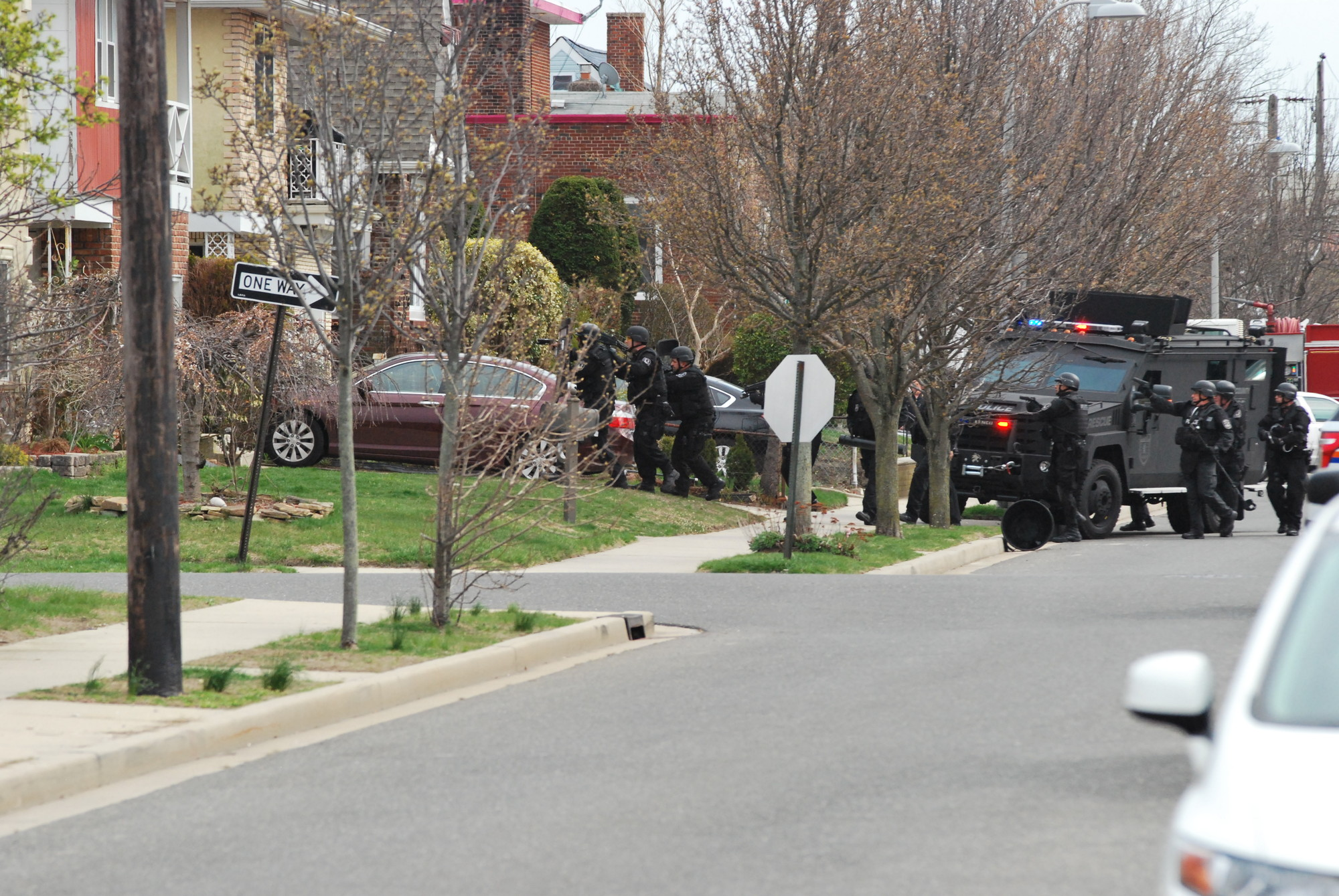 The SWAT team entered the home to conduct a search after the family was safely removed.