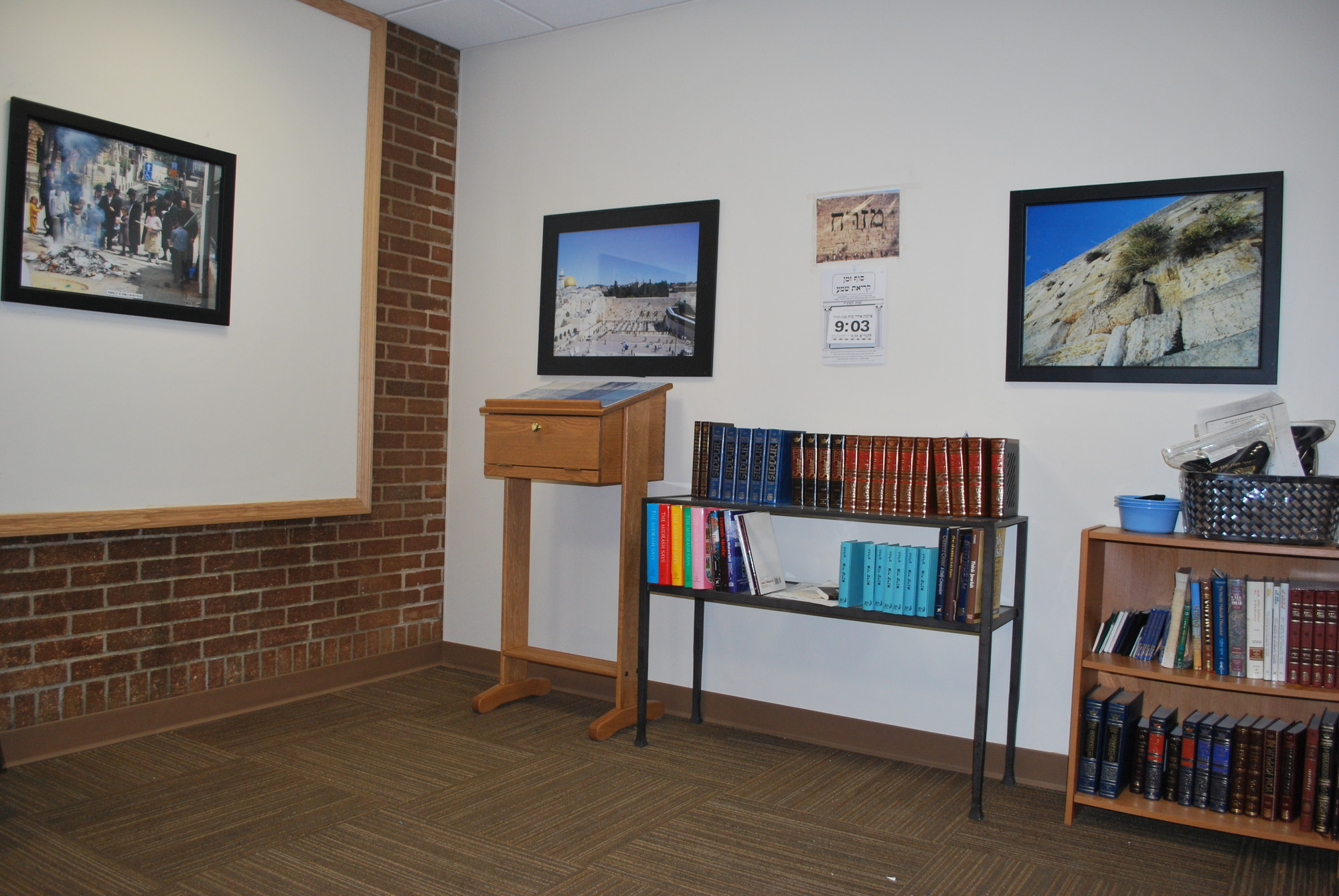 The Orthodox Jewish chapel at Mercy is stocked with prayer books and services are conducted by Rabbi Dr. Aaron Glatt.