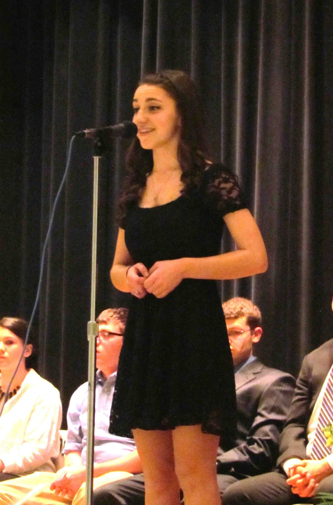 "Kennedy High School junior Mara Friedman sang Mozart's ""An Chloe"" during the ceremony at her school."