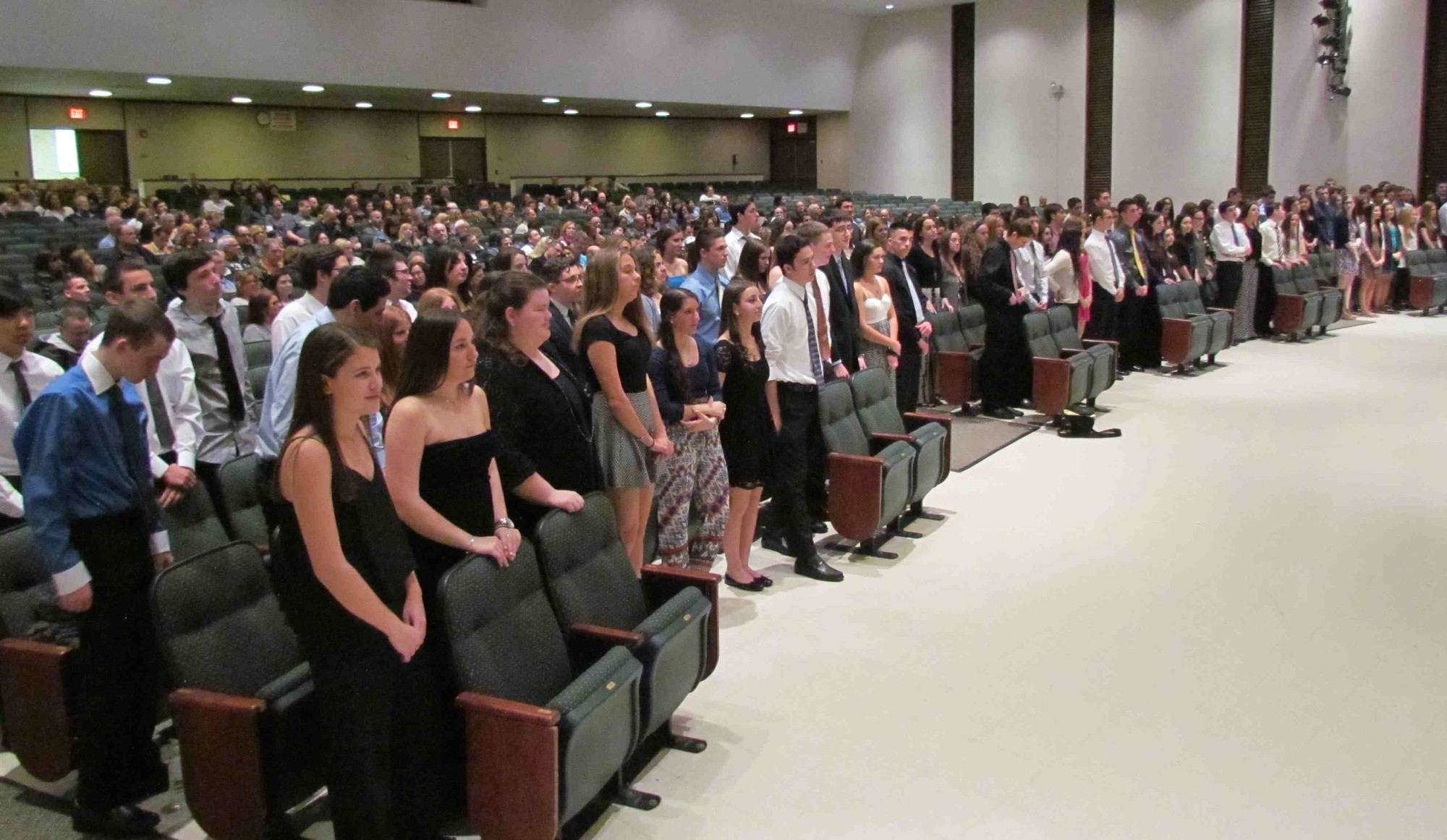 Kennedy High School students, who are from south Merrick and Bellmore, were inducted into the school's chapter of the National Honor Society on April 9.