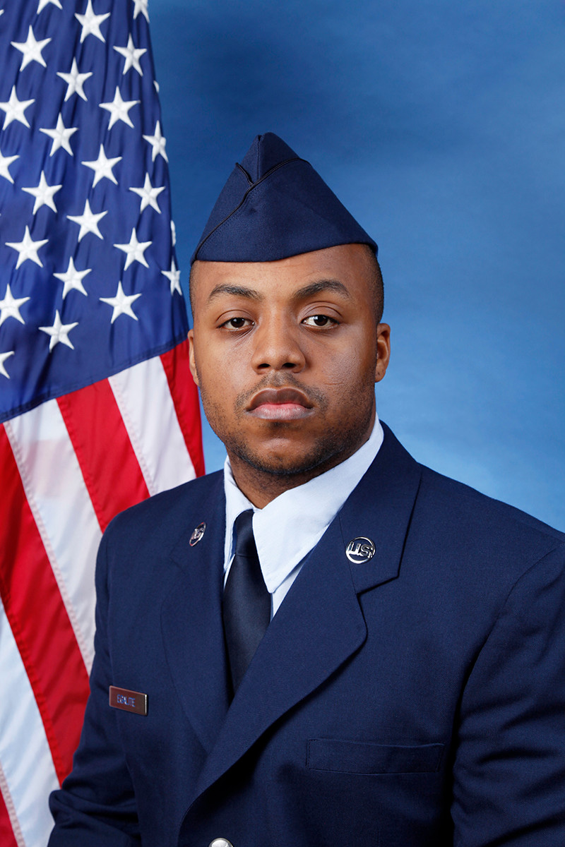 Air Force Reserve Airman Shakir Egalite graduated from West Hempstead High School in 2004.