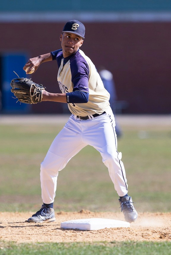 Bayyan Ngala-El had three hits in four trips to the plate and scored three runs in Baldwin's win over Port Washington on April 24.