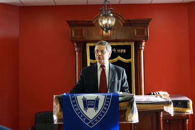 Former Israeli ambassador Danny Ayalon spoke to HAFTR High School juniors and senior about their role in the world advocating for the Jewish homeland.