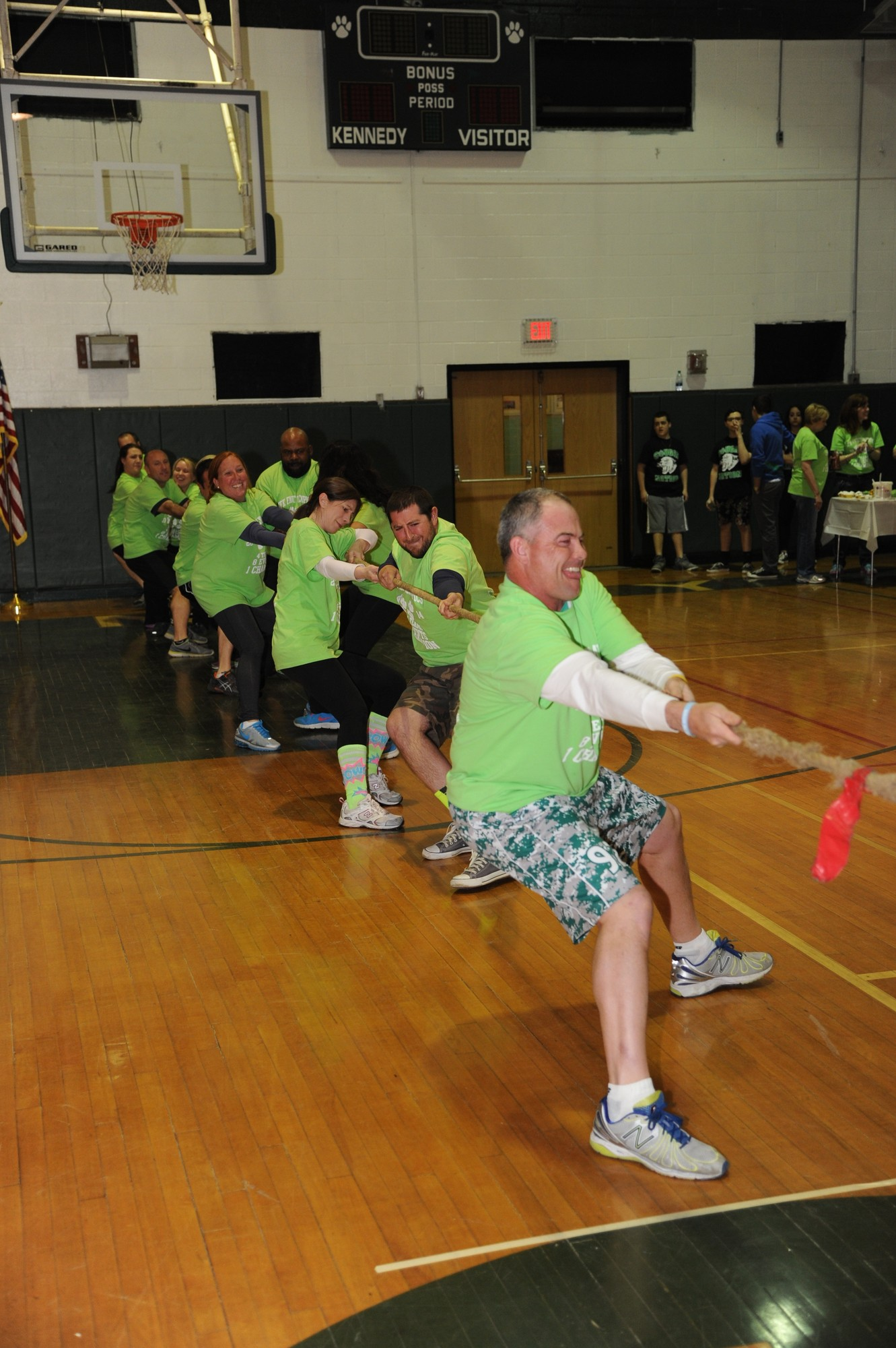 Team Andree gave it their all in the tug-of-war event.