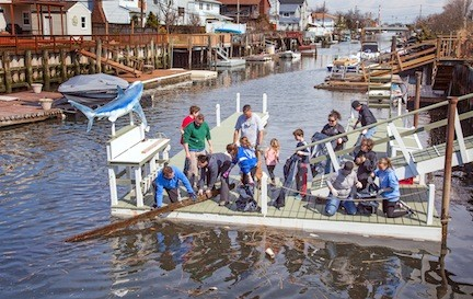 Volunteers cleared out debris from the canals, part of last Saturday's Earth Day weekend events.