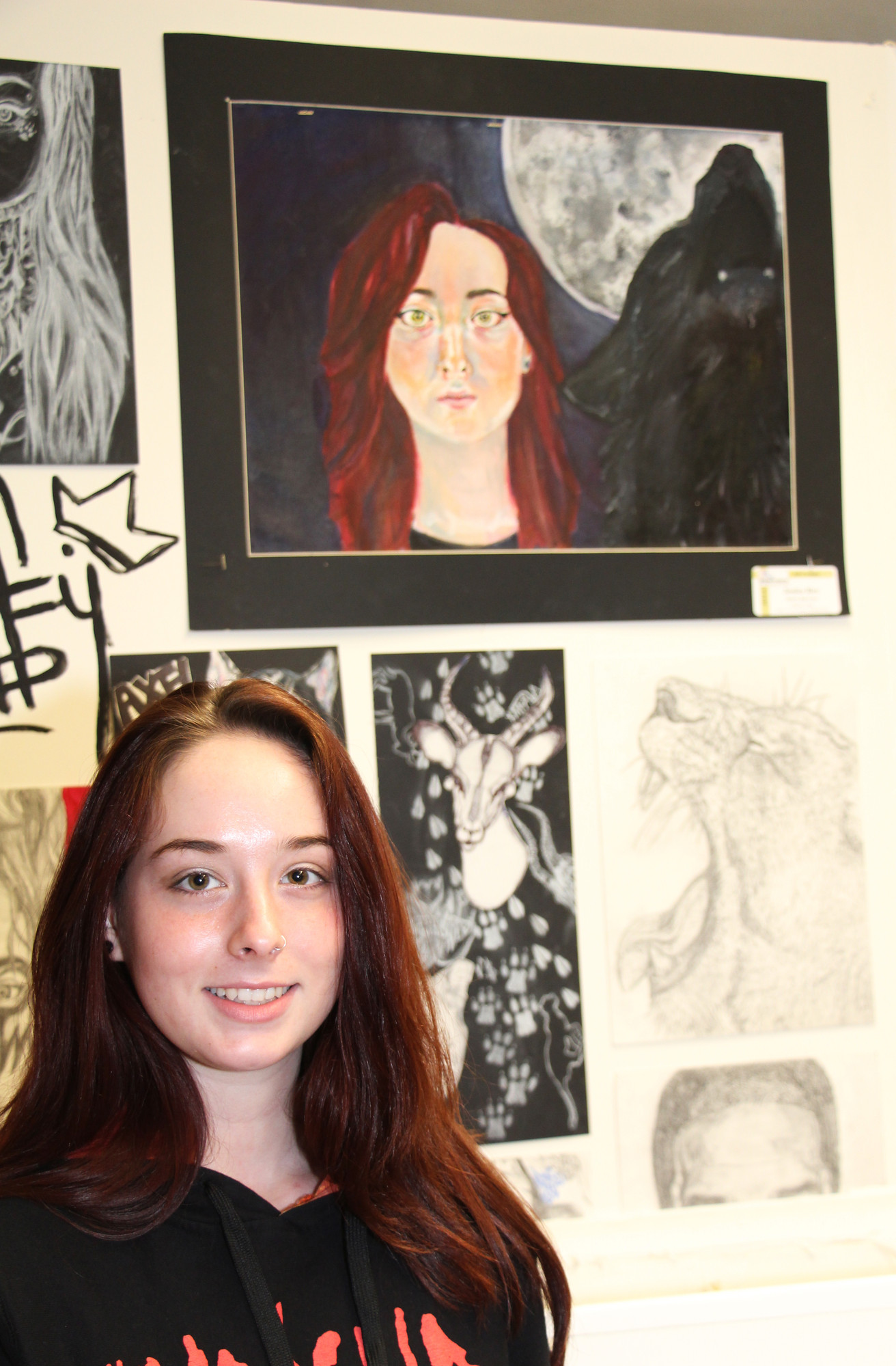 Jessica Rice, a senior at BHS, used many different tools to create her artwork.