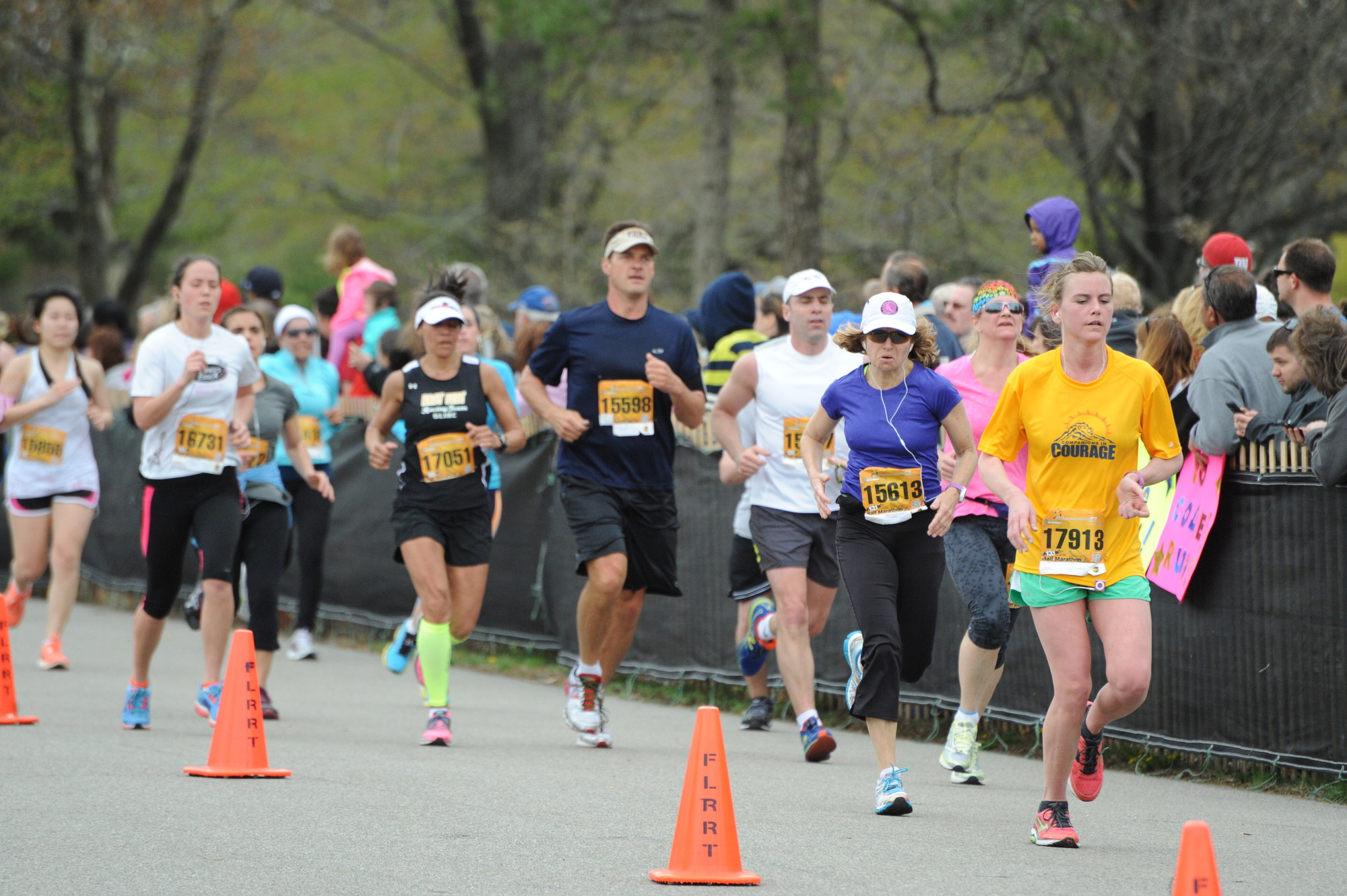 More than 7,000 runners participated in the Long Island Marathon's various races last weekend, including the 13.1 half marathon, pictured above.