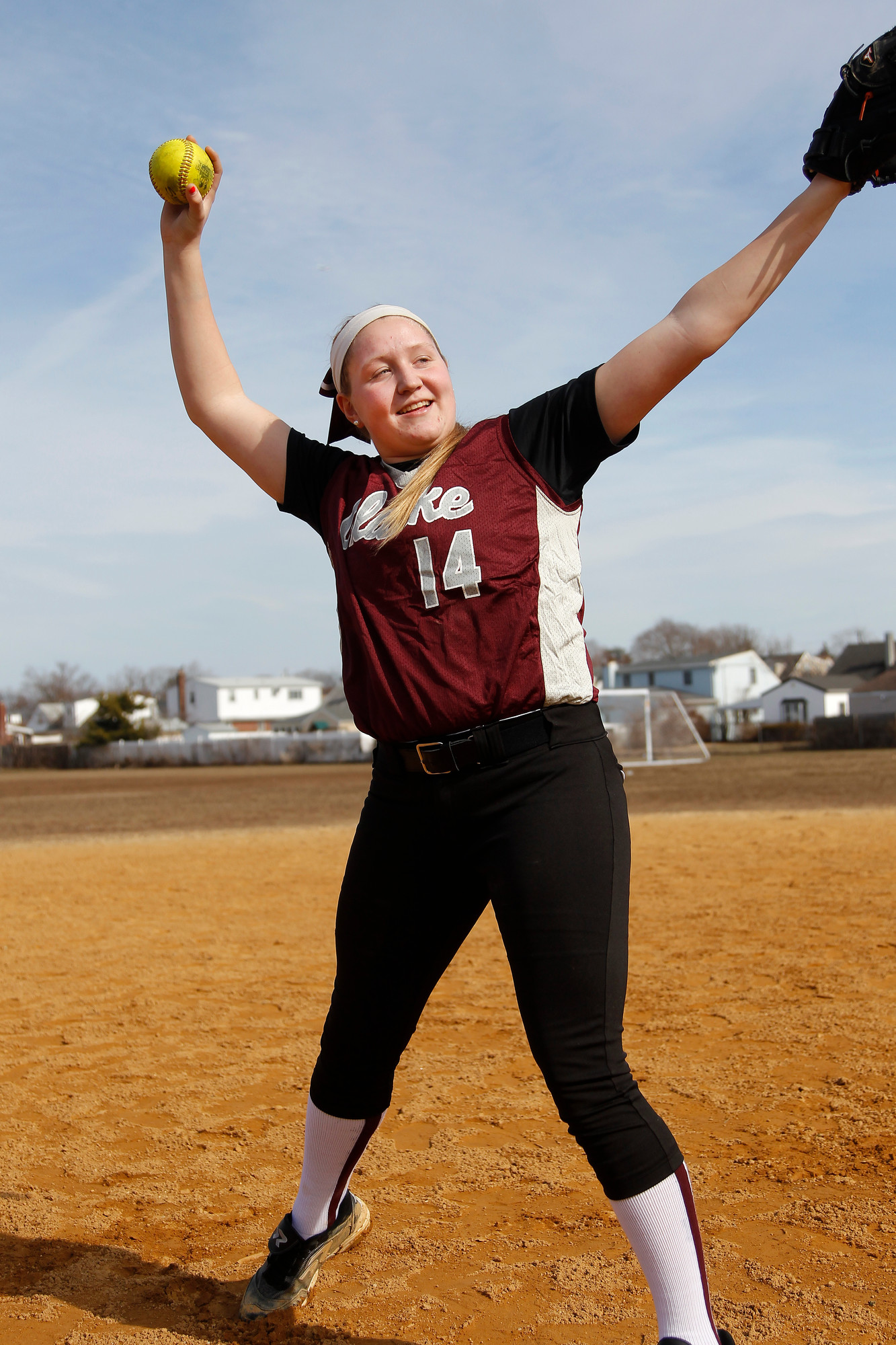 Sarah Cornell, a sophomore, has tossed three no-hitters, and has amassed more than 600 strikeouts in her Clarke varsity career, which began as a seventh-grader.