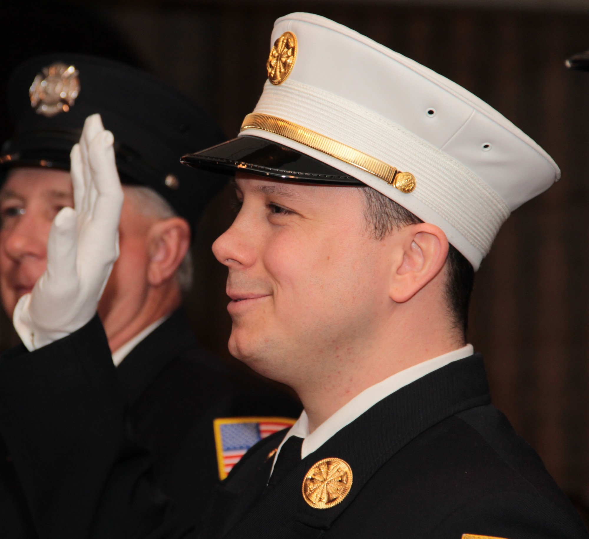 Brian Schriefer was sworn in as the Elmont Fire Department�s new chief on April 26.