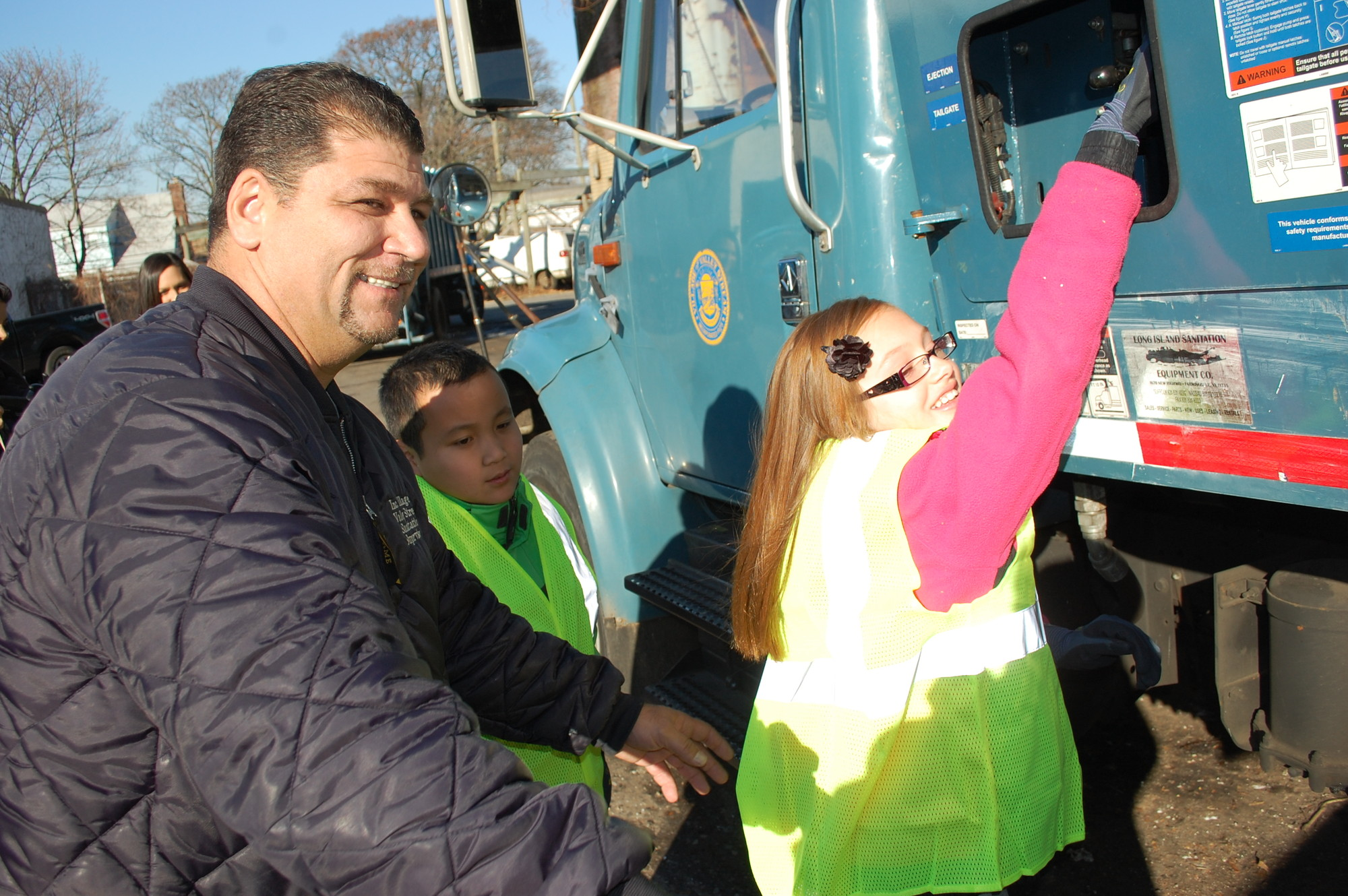 Wayne Mastrangelo enjoyed taking part in the annual Mayor for a Day program, where he showed contest winners how to operate a garbage truck.
