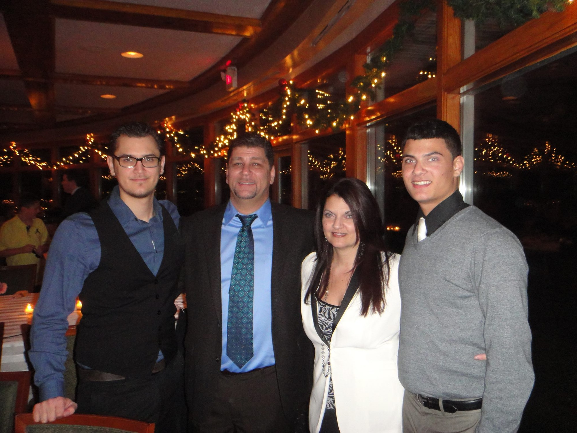 Mastrangelo with his wife, Toni, and sons Jake, left, and Zach.