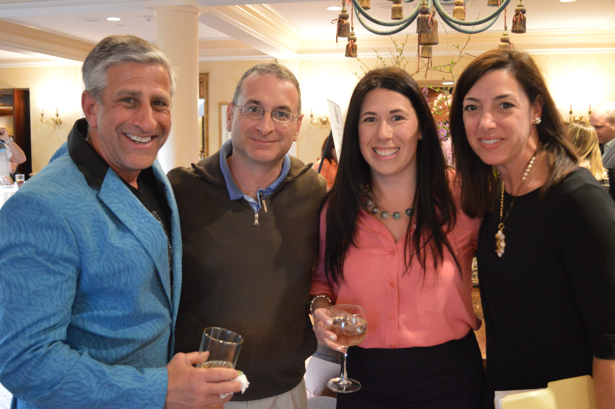 Lawrence Woodmere Academy held its annual spring fundraiser at The Woodmere Club. From left were Jay Arnow, Tom Iannelli, Kristy Arnow and Barbara Iannelli were part of the attendees who helped to raise $132,000 for the school.