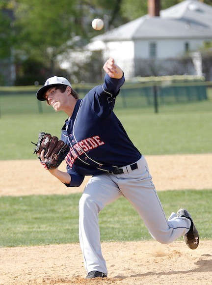 Senior Jake Santamaria dazzled in Oceanside's 8-1 win over Mepham in last week's Nassau Class AA quarterfinal playoff series.