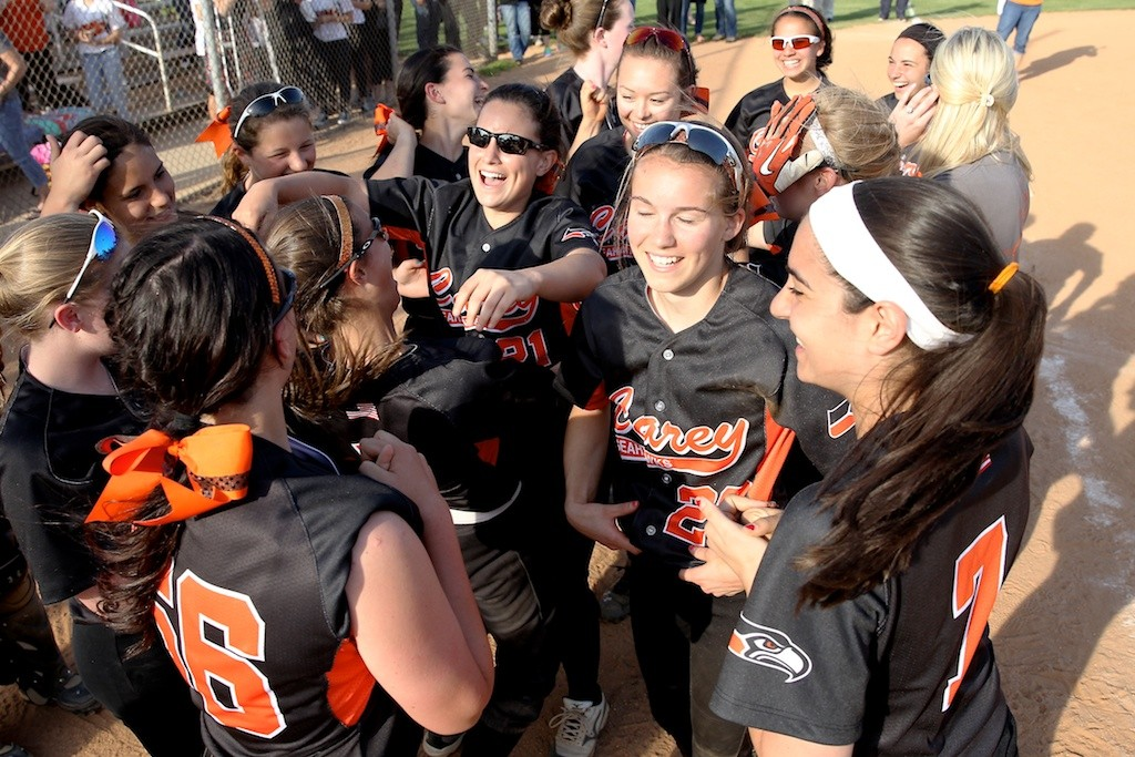 Carey celebrated winning the Nassau Class A softball title on Tuesday afternoon.