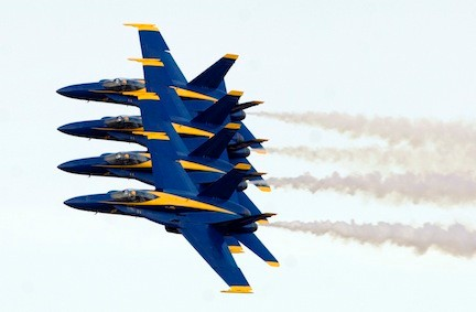 The renowned Blue Angels will be in action over Jones Beach this weekend.