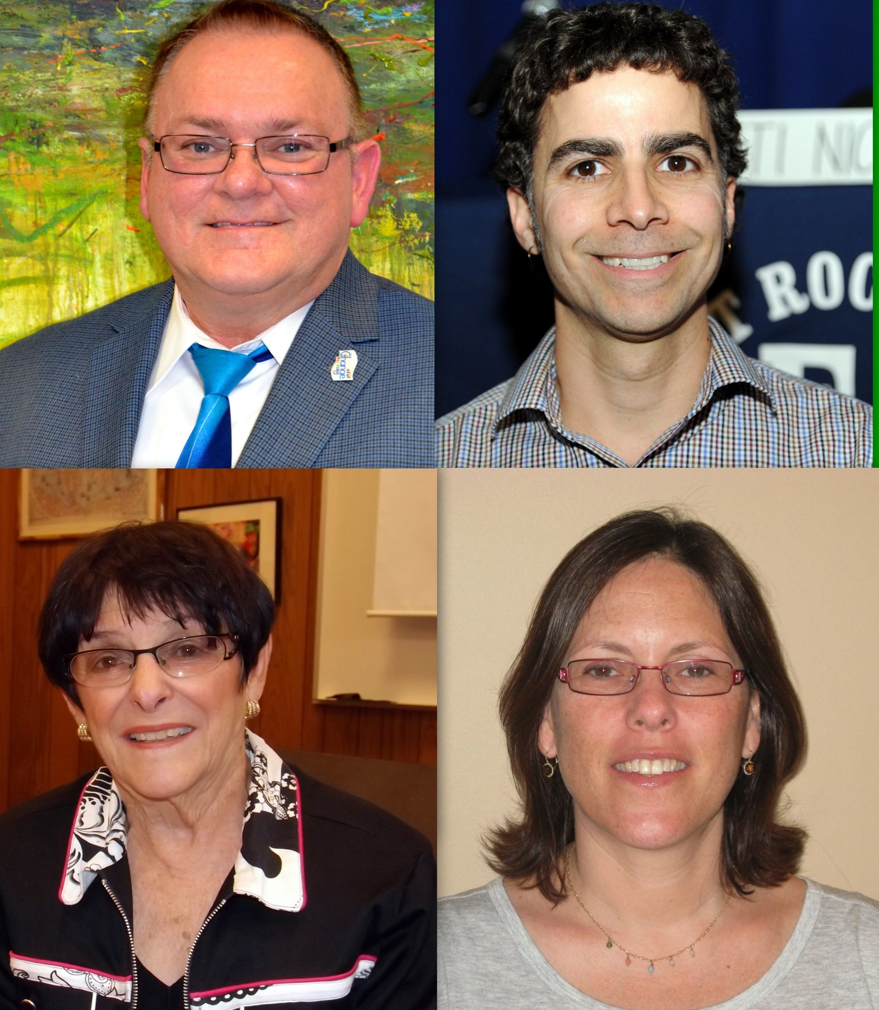 School Board trustees clockwise from to left: Neil Schloth, Keith Gamache, Ellen Marcus and Alicemarie Bresnihan.