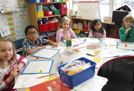 North Merrick students worked on their math during a recent lesson.