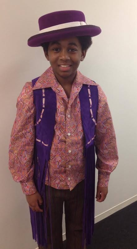 "Leon Outlaw Jr., a Baldwin Middle School student, plays a young Michael Jackson on the ""Motown: The Musical"" national tour."