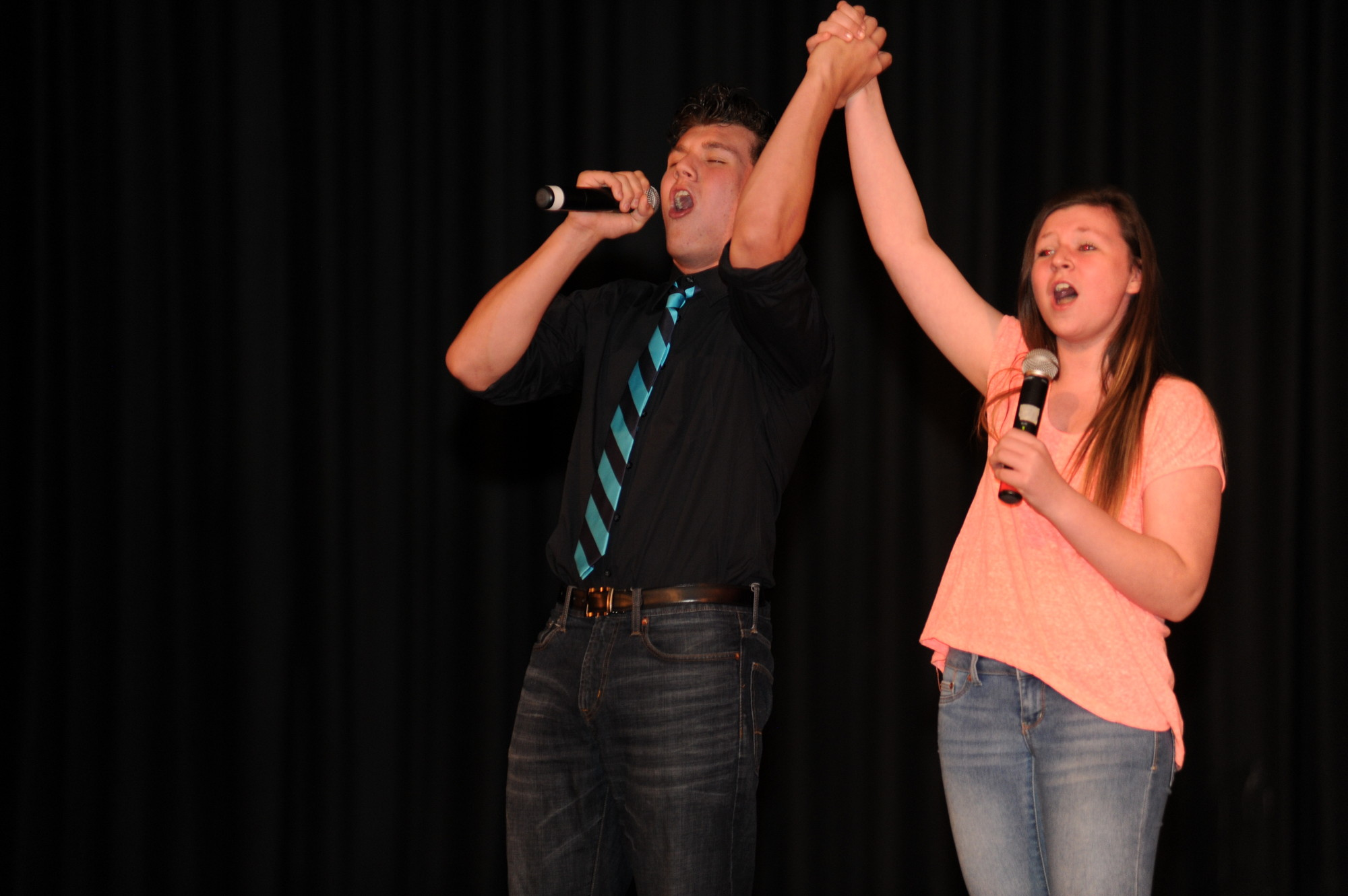 "Bailey and Riley Walsh'sang a duet to ""When You're Home"" from the Tony award-winning Broadway show ""In the Heights."""